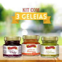Kit de 3 geleias de 50g